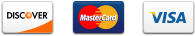 Discover, MasterCard, and Visa accepted